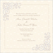 Wedding Invitation - scrolls