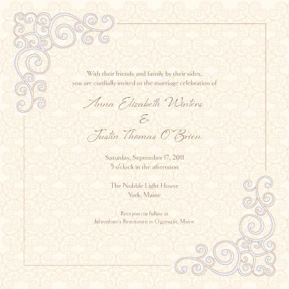 Wedding Invitation - Scrolls