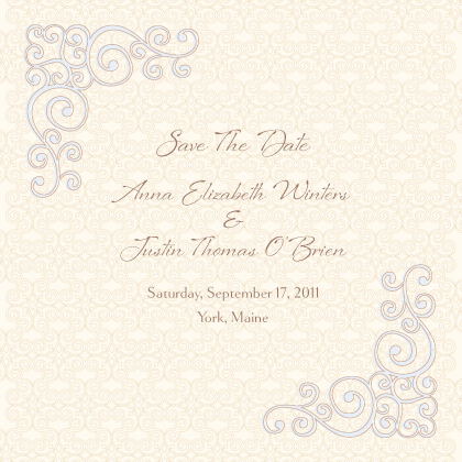 Save the Date Card - Scrolls