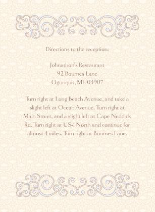 Reception Card - Scrolls