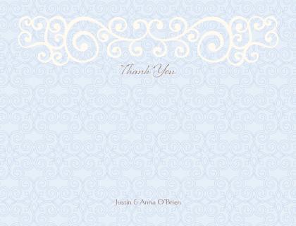 Wedding Thank You Card - Scrolls