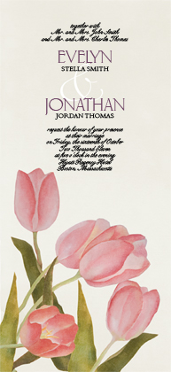 Wedding Invitation - Spring Tulips
