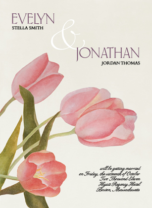 Save the Date Card - Spring Tulips