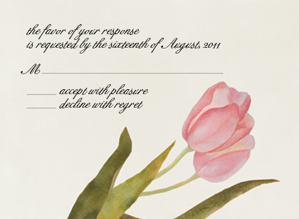 Response Card - Spring Tulips