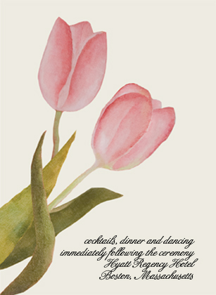 Reception Card - Spring Tulips