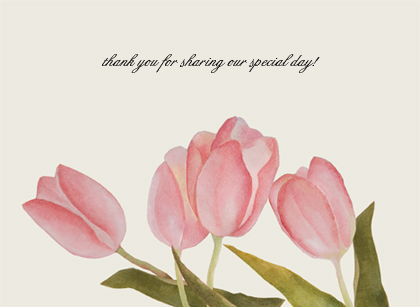 Wedding Thank You Card - Spring Tulips
