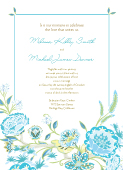 Wedding Invitation - Spring Blossoms