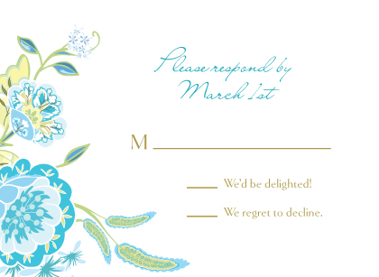 Response Card - Spring Blossoms