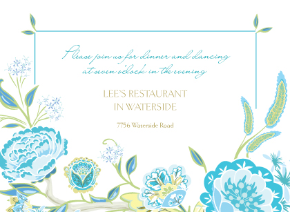 Reception Card - Spring Blossoms