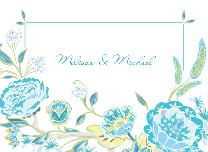Wedding Thank You Card - Spring Blossoms