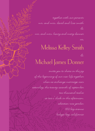 Wedding Invitation - Tropical Orchids