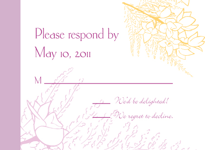 Response Card - Tropical Orchids