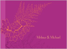 Wedding Thank You Card - tropical orchids