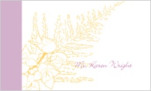 Place Card - tropical orchids