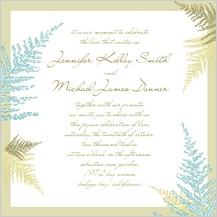 Wedding Invitation - forest ferns