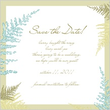 Save the Date Card - forest ferns