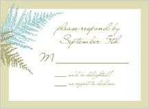 Response Card - forest ferns