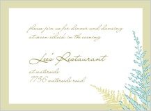 Reception Card - forest ferns