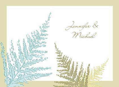 Wedding Thank You Card - Forest Ferns