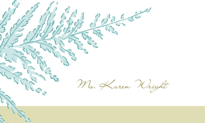Place Card - Forest Ferns