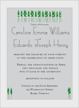 Wedding Invitation - lily of the valley