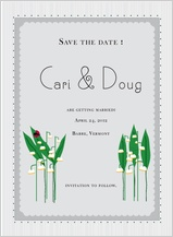 Save the Date Card - lily of the valley