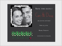 Save the Date Card with photo - lily of the valley