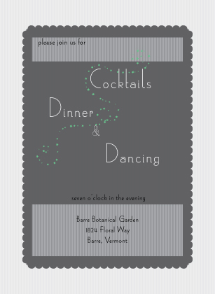 Reception Card - lily of the valley