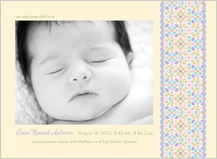 Birth Announcement with photo - sugar pop