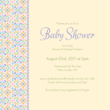 Baby Shower Invitation - Sugar Pop