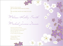 Wedding Invitation - floral breeze