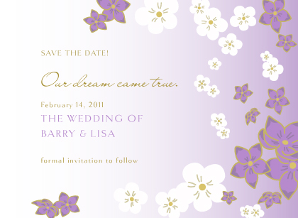 Save the Date Card - Floral Breeze