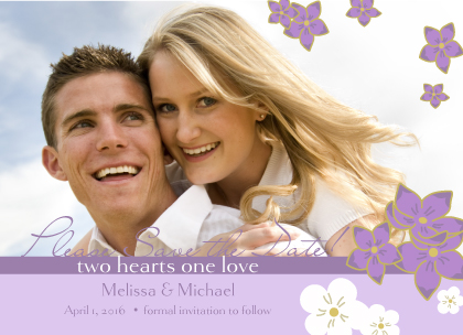 Save the Date Card with photo - Floral Breeze
