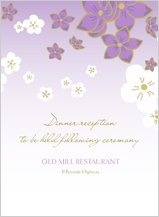 Reception Card - floral breeze
