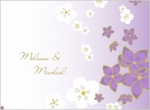 Wedding Thank You Card - floral breeze