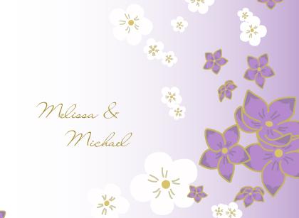 Wedding Thank You Card - Floral Breeze