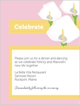 Reception Card - jubilant calla lilies