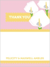 Wedding Thank You Card - jubilant calla lilies