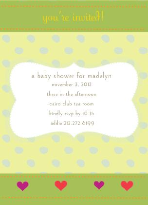 Baby Shower Invitation - cute