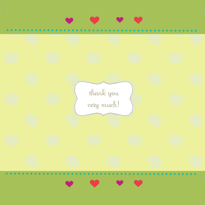 Baby Thank You Card - cute