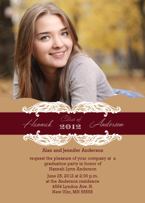 Graduation Party Invitation - Classy Elegant Grad