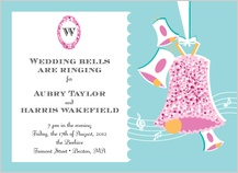 Wedding Invitation - vintage wedding bells