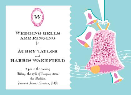 Wedding Invitation - Vintage Wedding Bells