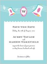 Save the Date Card - vintage wedding bells