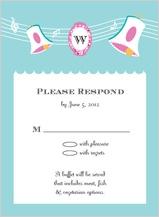 Response Card - vintage wedding bells