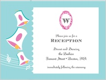 Reception Card - vintage wedding bells