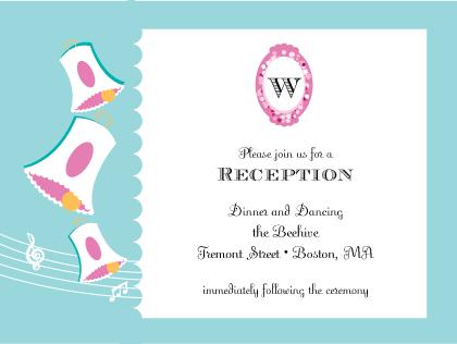 Reception Card - Vintage Wedding Bells