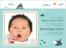Birth Announcement - ocean wonder