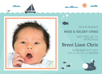 Birth Announcement - Ocean Wonder