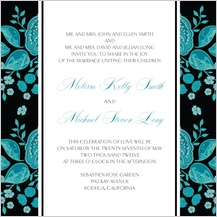 Wedding Invitation - stately roses